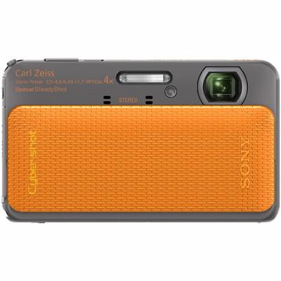Cyber-shot DSC-TX20 16.2 MP Waterproof Shockproof 3D Sweep Camera (Orange)