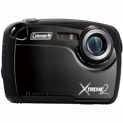 16MP Waterproof Digital Camera with 2.5` LCD Screen HD Video (Black) C12WP-BK