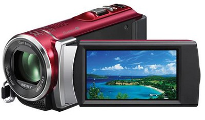 HDR-CX210 HD Camcorder 8GB Camcorder w/ 25x Optical Zoom (Red)