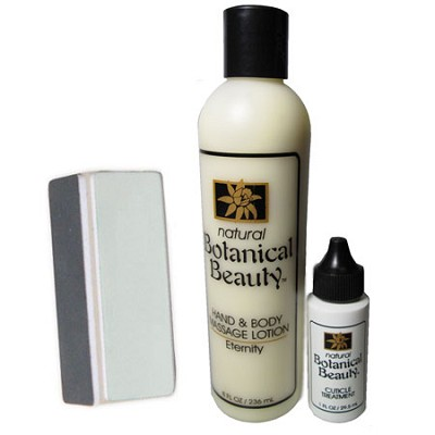 Hand and Body Lotion, Cuticle Treatment and 3 Step Nail Buffer