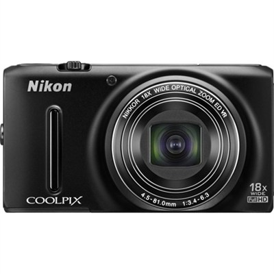 COOLPIX S9400 18.1 MP 18x Zoom 1080p Digital Camera Factory Refurbished - Black