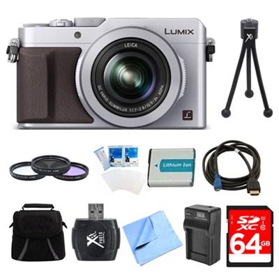 LUMIX LX100 Integrated Leica DC Lens Camera 64GB Filter Kit Bundle