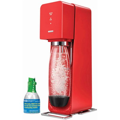 Source Home Soda Maker Starter Kit, Red