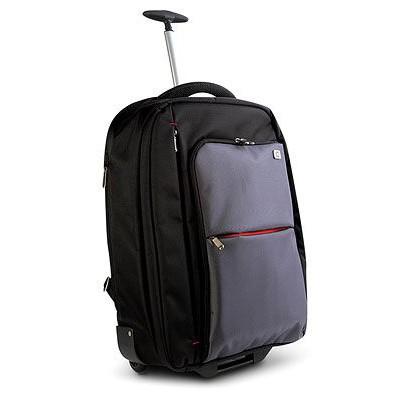 20-Inch Notebook Roller Case Backpack - Black/Gray