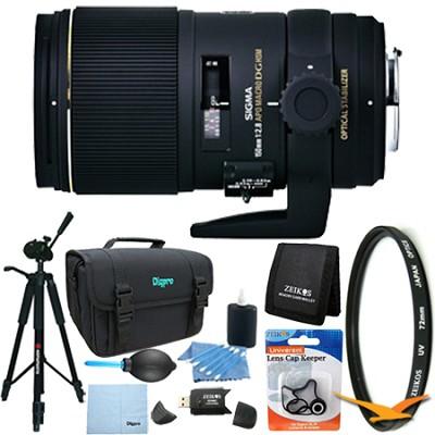 AF 150mm F2.8 APO Macro EX DG OS HSM for Canon EOS Lens Kit Bundle