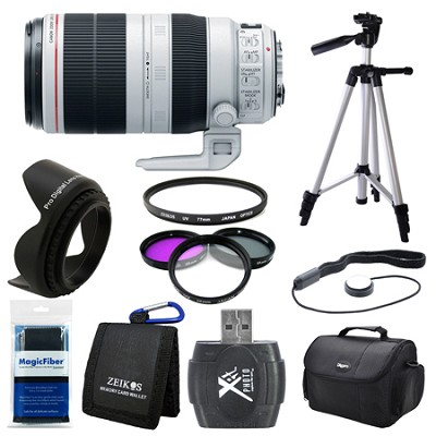 EF 100-400mm f/4.5-5.6L IS II USM Lens (9524B002) Deluxe Bundle