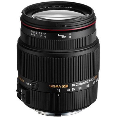18-200mm F3.5-6.3 II DC OS HSM Zoom Lens for Canon EOS DSLR