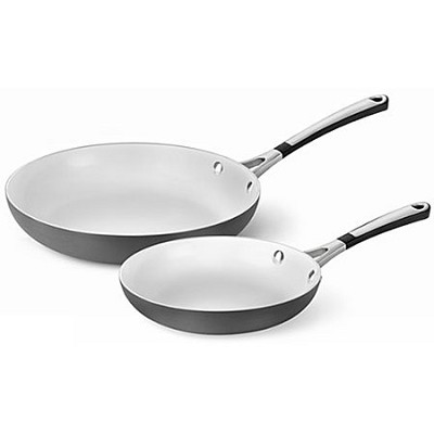 2-pc. Hard-Anodized Ceramic Nonstick Omelette Pan Set - 1873431