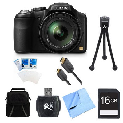 LUMIX DMC-FZ200K Digital Camera 16GB Bundle