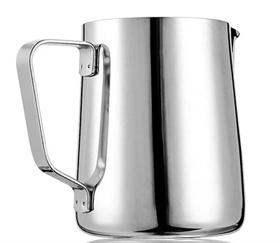 Stainless Steel Milk Frothing Pitcher (12 oz.) with Measurement Markings