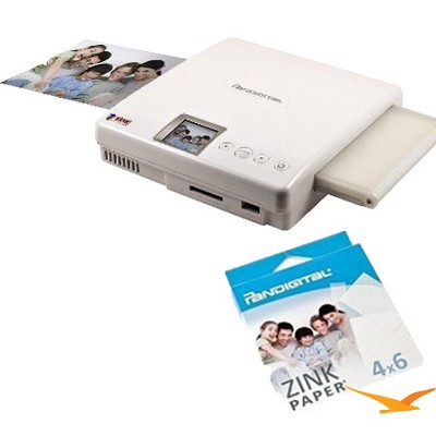 Zero Ink PANPRINT01 Portable Photo Color Printer with 15 sheets of Zink Paper