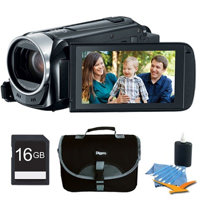 VIXIA HF R40 53x Image Stabilized Opt Zoom Camcorder Full HD CMOS Plus 16GB Kit