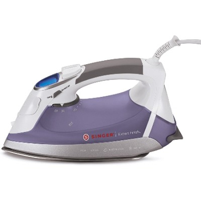 EF04 - Singer Expert Finish 1700 Watt Steam Iron (White/Purple)