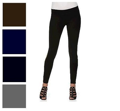 480 Denier Hot Tights/Full Length Leggings ( Black, Black & Grape )  3-Pack M/L