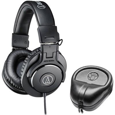 ATH-M30x Professional Headphones w/ Slappa HardBody Headphone Case