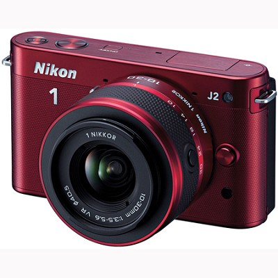 1 J2 SLR Red Digital Camera w/ 10-30mm VR Lens (27575)