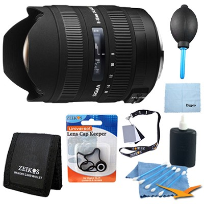 8-16mm f/4.5-5.6 DC HSM FLD AF Zoom Lens for Canon DSLRs - Pro Lens Kit