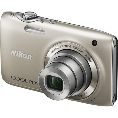 COOLPIX S3100 14MP 5x Zoom Silver Compact Digital Camera