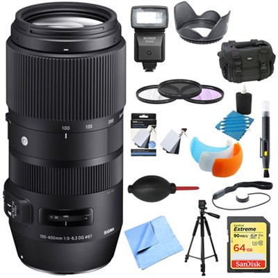 100-400mm F5-6.3 Full Frame Telephoto Lens Nikon Ultimate Accessory Bundle