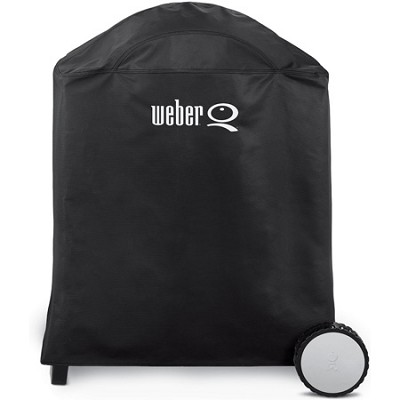 Premium Grill Cover, Fits Weber Q, Q-200, and Q-220 with Cart - OPEN BOX