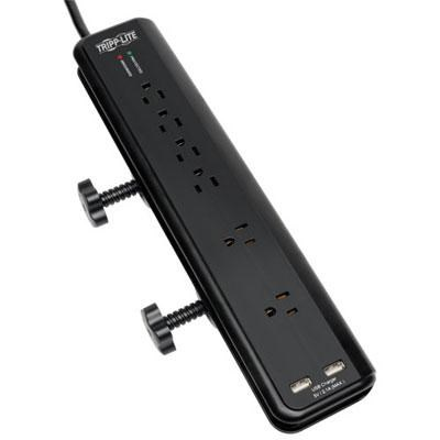 6-Outlet Desk Mount Surge Protector - TLP606DMUSB