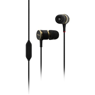 NE800M Superior Performance Carbon Fiber Earphones with In-line Remote and Mic