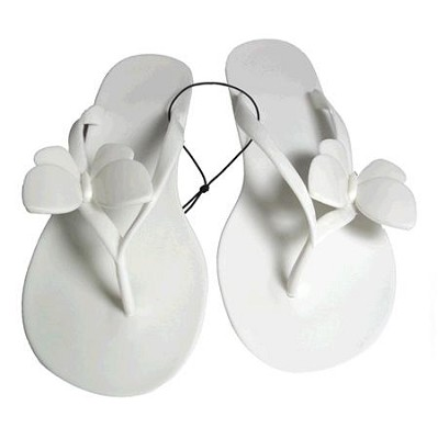 Jelly Sandals White Size Large (9/10)