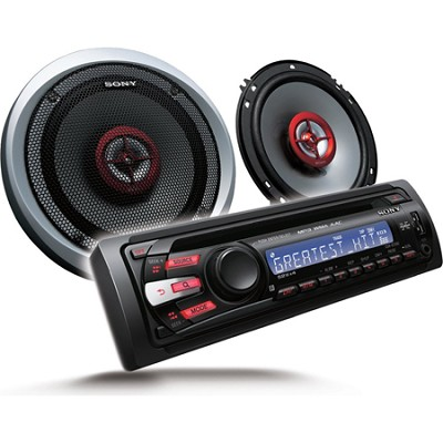 CXS-GT3516F Xplod CD Receiver and Speaker Package