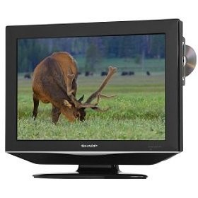 LC-19DV24U 19` High-definition LCD Flat-Panel TV w/ Built-in DVD Player
