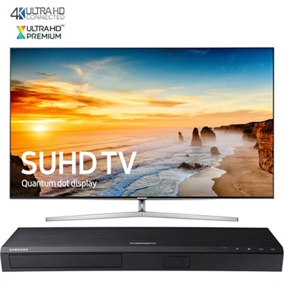 65` KS9000 SUHD Smart TV w/Ultra-Slim Bezel+ Samsung UBDK8500 UHD Blu-Ray Player