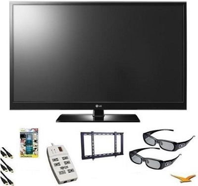50PZ550 50-Inch Plasma HDTV 3D capable 1080P Plasma TV Bundle