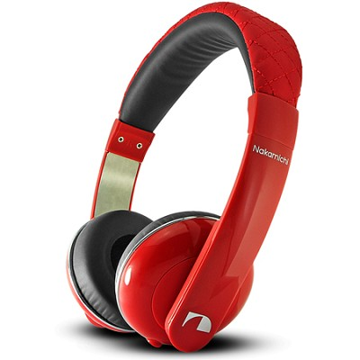 NK2010 Series Stereo On-The Ear Headphones with Mic - Red