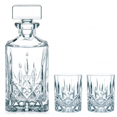 Noblesse Decanter and Whisky Glass, Set of 3 - 91899