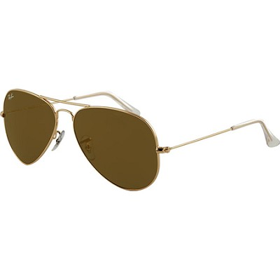 Aviator Large Metal  Sunglasses Gold Crystal Gold Mirror