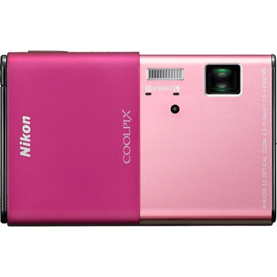 COOLPIX S80 14.1 MP Ultra-Slim 3.5 in Touchscreen Pink Camera w/ HD Video