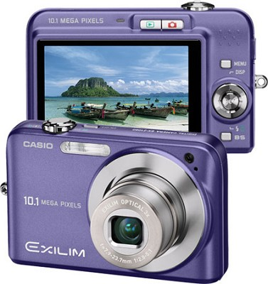 Exilim EX-Z1080 10.1MP Digital Camera with 2.6` LCD (Blue)