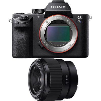 a7S II Full-frame Mirrorless Interchangeable Lens Camera with 50mm Prime Lens
