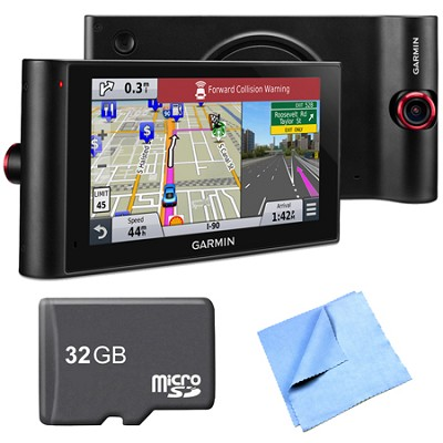nuviCam LMTHD 6` GPS with Dashcam, Maps & HD Traffic 32GB Memory Card Bundle