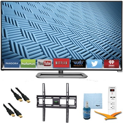 M602i-B - 60` 1080p 240Hz WiFi Smart LED HDTV Plus Mount & Hook-Up Bundle