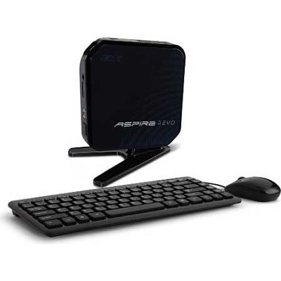 AspireRevo AR3700-U3002 Slim Desktop Computer - Intel Atom D525 Processor