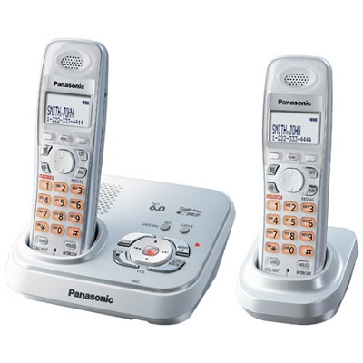 KX-TG9332S DECT 6.0 Expandable Digital Cordless Phone with 2 Handsets