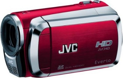 Everio GZ-HM200 Dual SD High-Def Camcorder (Red)