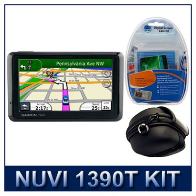 nuvi 1390T North America City GPS Total Care Kit with Case and Cleaning Kit