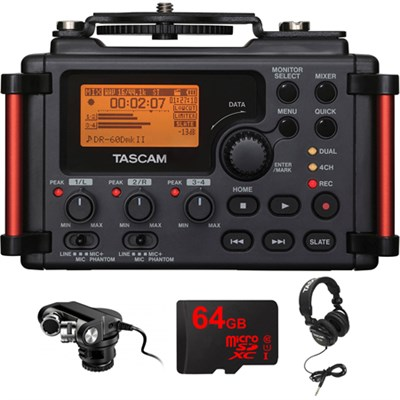 Portable Recorder for DSLR with Plug-in Microphone for DSLR Bundle