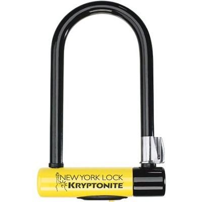 New York Standard Bicycle U-Lock with Transit FlexFrame Bracket (4` x 8` inches)