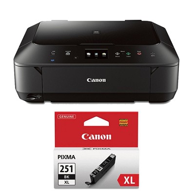 PIXMA MG6620 Wireless Color Photo All-in-One Inkjet Black Printer XL Ink Bundle