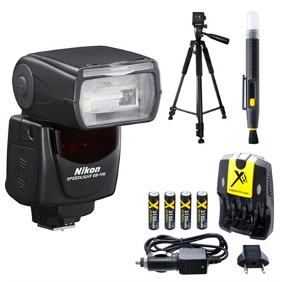 SB-700 AF Speedlight Flash for Nikon Digital SLR Cameras and Tripod Bundle