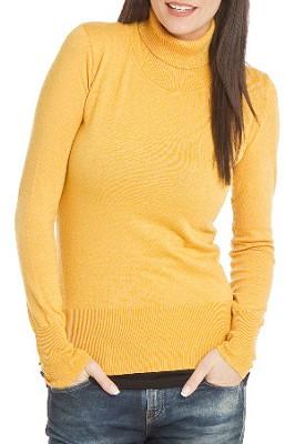 Turtleneck Sweater for Women - Color: Honey / Size: Med