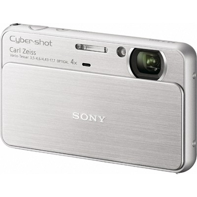 Cyber-shot DSC-T99 14MP Silver Touchscreen Digital Camera - Open Box