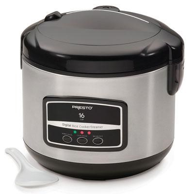 16-Cup Digital Rice Cooker in Stainless Steel - 05813